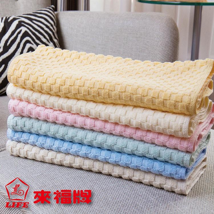 來福牌純棉厚款方格毛巾