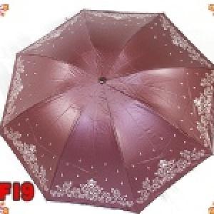 【日本防天堂專利骨架】☆巴洛克四折色膠手開傘☆【完全遮陽不透光/完全不會翻傘】