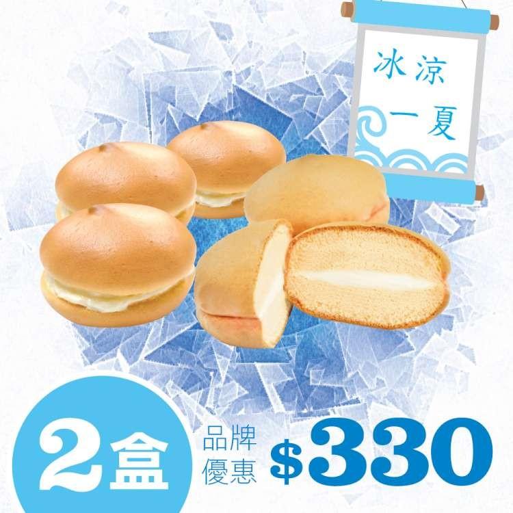 胖叔叔烘焙屋冰涼一夏軟布希5入X2盒優惠價蛋奶素
