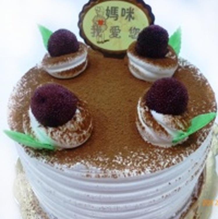 8吋義式巧克力誕糕奶素